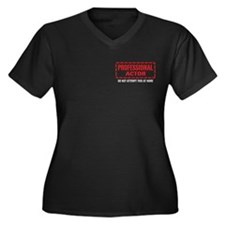 Professional Actor Women's Plus Size V-Neck Dark T