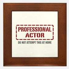 Professional Actor Framed Tile