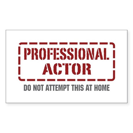 Professional Actor Rectangle Sticker