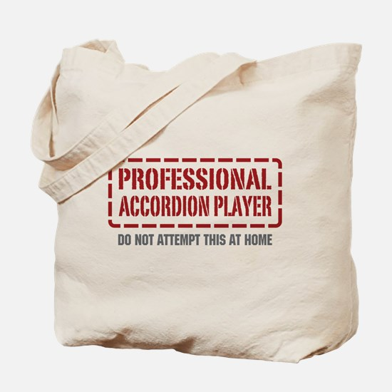 Professional Accordion Player Tote Bag