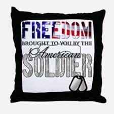 FREEDOM - Brought to you by t Throw Pillow