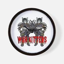 War Kittens Wall Clock