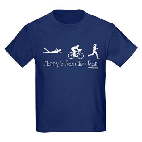 Triathlon Mommy's Transition Team Kids Dark T-Shir