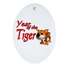 Year of the Tiger (B) Oval Ornament