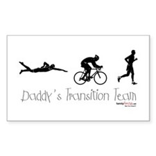 Triathlon Daddy's Transition Team Decal