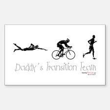 Triathlon Daddy's Transition Team Decal