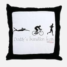 Triathlon Daddy's Transition Team Throw Pillow