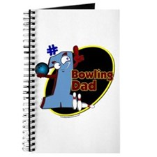 Blue number 1 bowling dad Journal