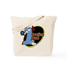 Blue number 1 bowling dad Tote Bag