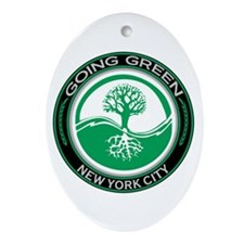 Going Green New York City Tree Oval Ornament