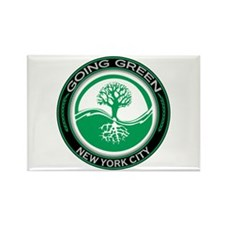 Going Green New York City Tree Rectangle Magnet