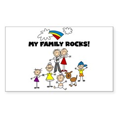 FAMILY STICK FIGURES Rectangle Decal