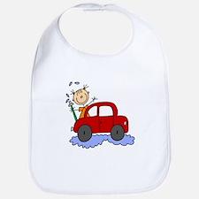 Stick Girl Washing Car Bib