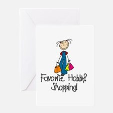 Shopping Favorite Hobby Greeting Card