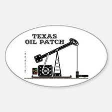 Texas Oil Patch Oval Decal
