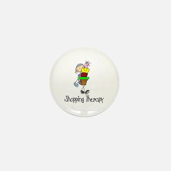 Shopping Therapy Mini Button