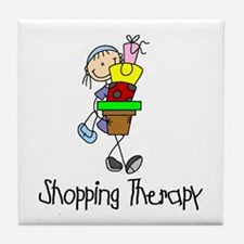 Shopping Therapy Tile Coaster