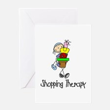 Shopping Therapy Greeting Card