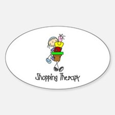 Shopping Therapy Oval Decal