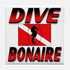 Dive Bonaire (red) Tile Coaster