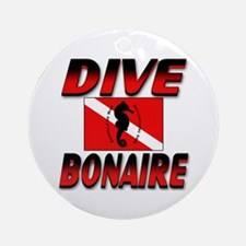 Dive Bonaire (red) Keepsake Round Ornament
