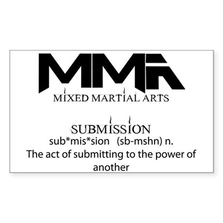 MMA Submission Rectangle Sticker 50 pk)