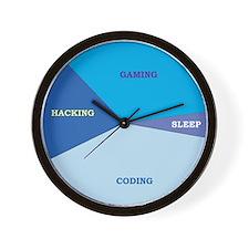 """Geek Schedule"" Wall Clock"