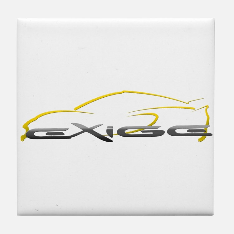 Exige Outline Yellow Tile Coaster