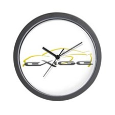 Exige Outline Yellow Wall Clock