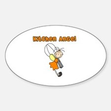 Kitchen Angel Oval Decal