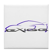 Exige Outline Blue Tile Coaster