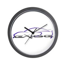 Exige Outline Blue Wall Clock