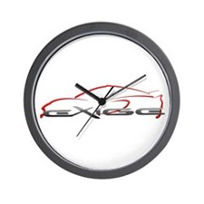 Exige Outline Red Wall Clock