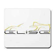 Elise Outline Yellow Mousepad