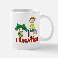 I Vacation (male) Mug