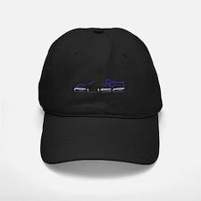 Elise Outline Blue Baseball Hat