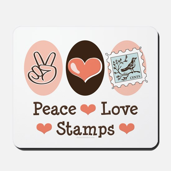 Peace Love Stamps Mousepad