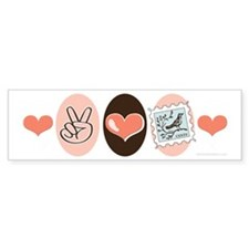 Peace Love Stamps Bumper Bumper Bumper Sticker
