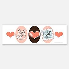 Peace Love Stamps Bumper Bumper Stickers