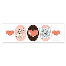 Peace Love Stamps Bumper Car Sticker
