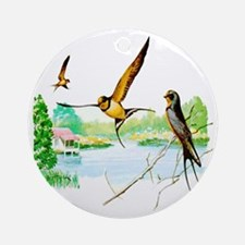 Barn Swallow Ornament (Round)
