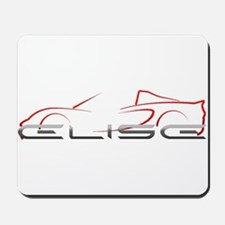 Elise Outline Red Mousepad