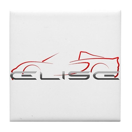 Elise Outline Red Tile Coaster
