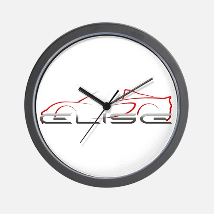 Elise Outline Red Wall Clock