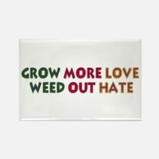 Grow More Love Rectangle Magnet