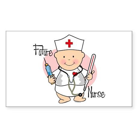 Future Nurse Rectangle Sticker