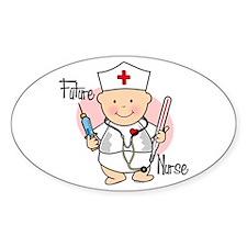 Future Nurse Oval Decal