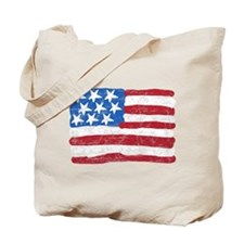 Grungy Flag Tote Bag