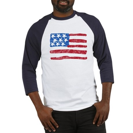 Grungy Flag Baseball Jersey