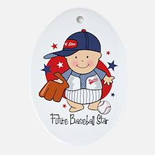 Future Baseball Star Oval Ornament